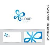 quadro infinite loop logo...   Shutterstock .eps vector #300056933
