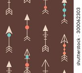 cute tribal geometric seamless... | Shutterstock .eps vector #300062303