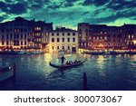 grand canal in sunset time ... | Shutterstock . vector #300073067