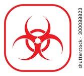 biohazard symbol vector sign...   Shutterstock .eps vector #300088823
