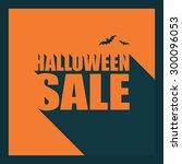 halloween sale poster template. ... | Shutterstock .eps vector #300096053