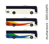 Set Of Three Coach Bus Icons....