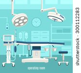 medical operation room... | Shutterstock .eps vector #300112283