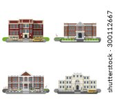 school and university buildings ... | Shutterstock .eps vector #300112667