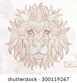 patterned head of the lion on... | Shutterstock .eps vector #300119267