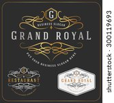 luxurious royal logo vector re... | Shutterstock .eps vector #300119693