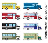 set of buses of emergency... | Shutterstock .eps vector #300120257