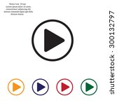 play button web icon  flat... | Shutterstock .eps vector #300132797