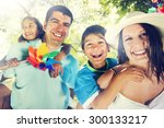 family happiness parents...   Shutterstock . vector #300133217