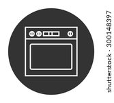 oven linear icon.   Shutterstock .eps vector #300148397