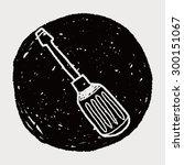screwdrivers doodle | Shutterstock .eps vector #300151067