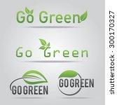 go green logo vector... | Shutterstock .eps vector #300170327