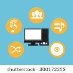 music lifestyle design  vector... | Shutterstock .eps vector #300172253