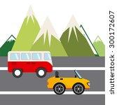 road concept design  vector... | Shutterstock .eps vector #300172607