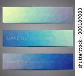 modern vector banners polygonal ... | Shutterstock .eps vector #300189083