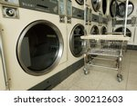 laundry machine and a cart in...
