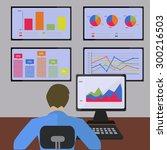 statistics and information... | Shutterstock .eps vector #300216503