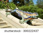 Lizard Fountain At Park Guell...