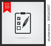 icon of checklist on clipboard... | Shutterstock .eps vector #300263507