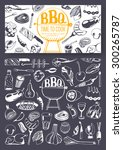 barbecue party invitation.... | Shutterstock .eps vector #300265787