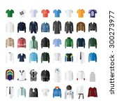 clothes icon set | Shutterstock .eps vector #300273977