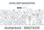 doodle design style concept of... | Shutterstock .eps vector #300276233