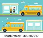 schoolboy and schoolgirl... | Shutterstock .eps vector #300282947