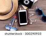 preparing for travel... | Shutterstock . vector #300290933