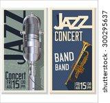 jazz music festival  poster | Shutterstock .eps vector #300295637