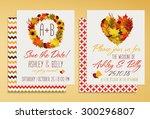 fall bridal shower invitation | Shutterstock .eps vector #300296807
