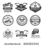 badges  emblems motorcycle... | Shutterstock .eps vector #300302543