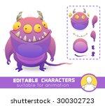 Cute Editable Monster. Evil...