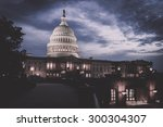 the capitol building at night... | Shutterstock . vector #300304307