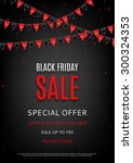 design of the flyer of black... | Shutterstock .eps vector #300324353