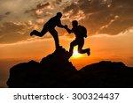 climbing assistance | Shutterstock . vector #300324437
