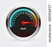 speedometer . vector... | Shutterstock .eps vector #300326927