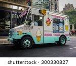ice cream truck on a street in... | Shutterstock . vector #300330827