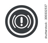 alert sign icon in circle