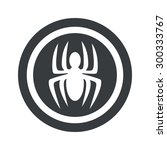 image of spider in circle  on...