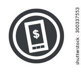 dollar symbol on smartphone...