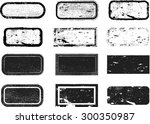 set of grunge rubber texture... | Shutterstock .eps vector #300350987