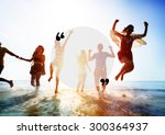 blank copy space holiday... | Shutterstock . vector #300364937