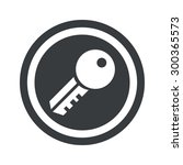 image of key in circle  on... | Shutterstock . vector #300365573