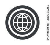 image of globe symbol in circle ...