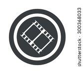 image of film strip in circle ...