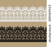 black lace. white lace.... | Shutterstock .eps vector #300369413