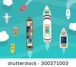 water carriage and maritime... | Shutterstock .eps vector #300371003