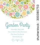spring floral invitation three   Shutterstock .eps vector #300380753