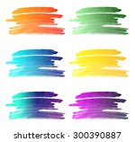 set of different colored... | Shutterstock . vector #300390887