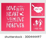 vector collection of three ... | Shutterstock .eps vector #300444497